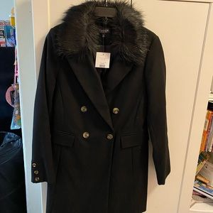Women's black pea coat